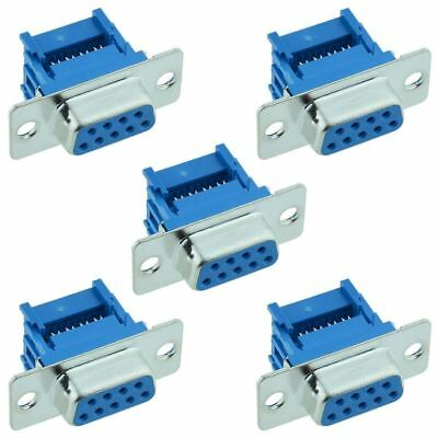 5 x 9-Way IDC Female D Socket Connector