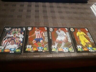 Cromos de Futbol Adrenalyn SUPER CRACKS + CARTA INVENCIBLE Temp.  13.14