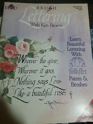 Plaid Brush Lettering  with Ken Brown Decorative Painting Book #9459