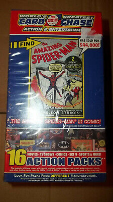 World's Greatest Card Chase Action & Entertainment Card Box Sealed 16 Packs