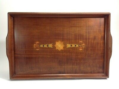 Beautiful Inlaid Wooden Serving Tray