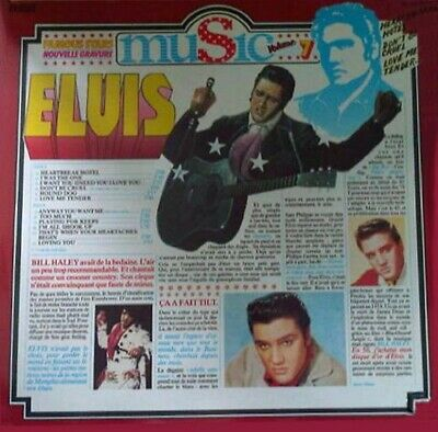 Elvis Famous Stars Music Volume 7 France Record Album Lp 1974 Vg++