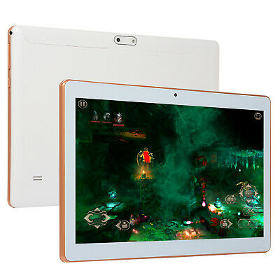 "10.1"" Tablet PC 8 Core Android 64GB Dual SIM Camera Wifi Phone Phablet White USA"