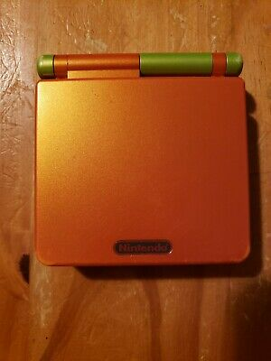 Nintendo Game Boy Gameboy Advance SP Lime Green And Orange Limited Edition