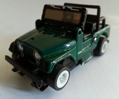 1:64 scale AFX TYCO JEEP SLOT CAR VGC