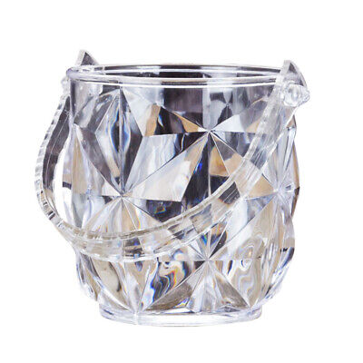 1 pc Ice Bucket Portable Acrylic Ice Container with Ice Tong for KTV Restaurant