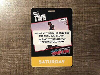 NYCC 2019 New York Comic Con Saturday Badge