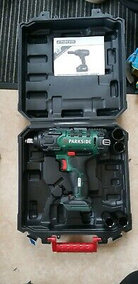 Parkside powerful Cordless car Vehicle Impact Wrench Gun 20V 2ah battery charger