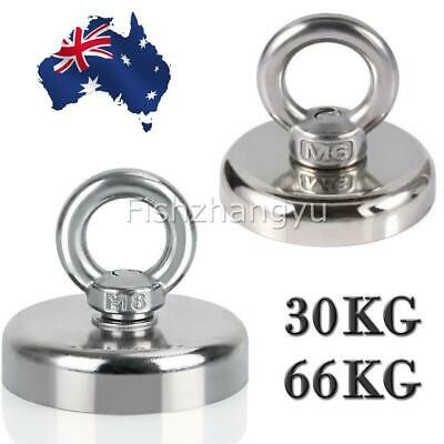 30/66KG Recovery Magnet Hook Strong Sea Fishing Diving Treasure Hunting AU Stock