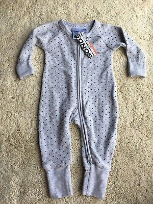 Bonds Wondersuit Zippy Grey Spot Size 000
