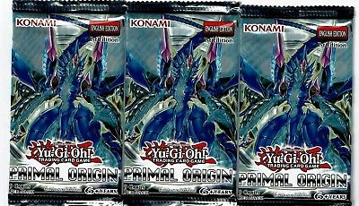 Primal Origin 1St Edition Yu-Gi-Oh Factory Sealed Booster Packs   (3 Pack Lot)