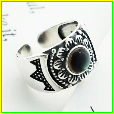 Rings Women Real 925 Sterling Silver Retro Antique Sun Flowers Design Unique
