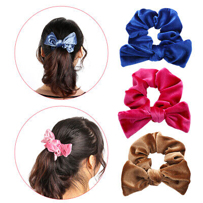 Holder  Elastic Hair Bands Velvet Scrunchies  Bowknot Hair Ropes Bow Ties