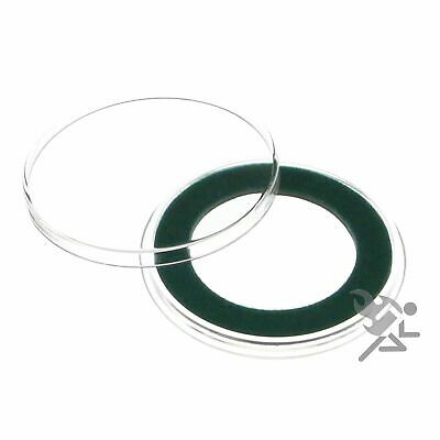 (15) Air-tite 32mm Green Velour Colored Ring Coin Holder Capsules for 1oz