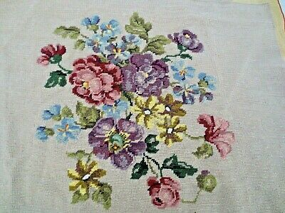 Tapestry  Completed Roses Would Suit Chair  Or Picture
