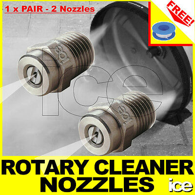 2 x ROTARY FLAT SURFACE FLOOR CLEANER REPLACEMENT NOZZLES FITS TURBO DEVIL ETC