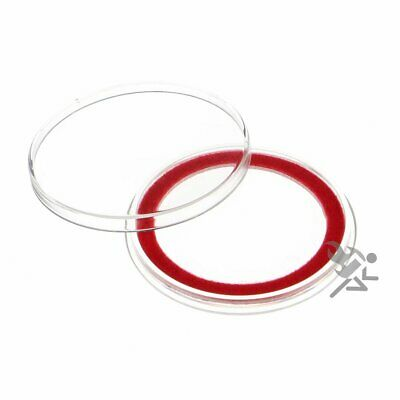 (20) Air-tite 39mm Red Velour Colored Ring Coin Holder Capsules for 1oz Silver