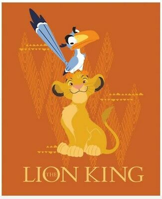 Disney The Lion King Quilt Panel * New * Free Post * Cute Simba *