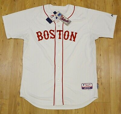 Boston Red Sox MLB Majestic Authentic Cool Base white jersey size 48 (XL)