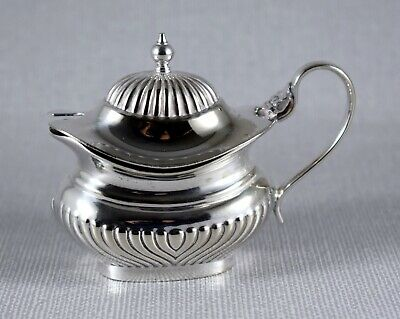 Vintage Silver Plate Mustard Condiment Pot