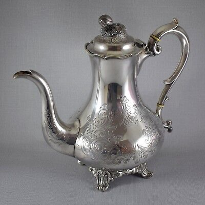Antique Silver Plate Coffee Pot / Water Jug