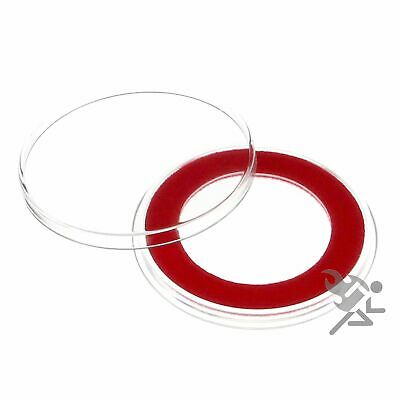 (15) Air-tite 32mm Red Velour Colored Ring Coin Holder Capsules for 1oz