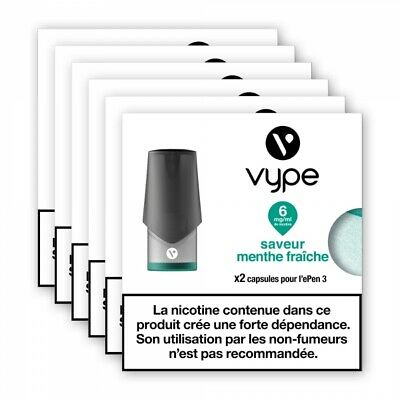 6 x Pods 2ml Epen3 Vpro - mangue tropicale - 12 mg/ml sel de nicotine