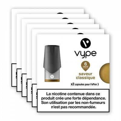 6 x Pods 2ml Epen3 Vpro - classique selection - 12 mg/ml sel de nicotine