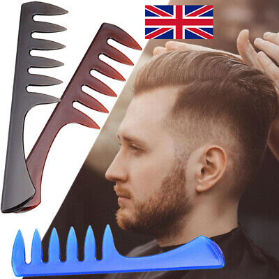 Pro Men Wide Tooth Comb Salon Barber Hairdressing Styling Comb Hair Brush T