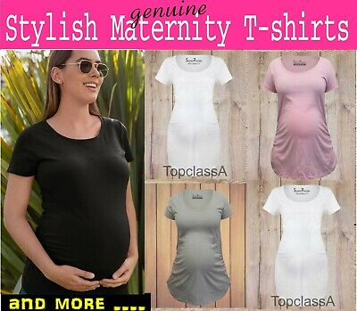 Pregnancy Maternity T Shirt Plain Women Maternity T-shirt Clothing Outfit Tee