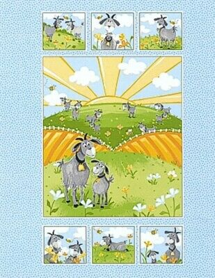 Susybee * Hildy The Goat Quilt Panel * New * Free Post *