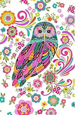 Feathers And Foliage Quilt Panel  * New * Free Post * Gorgeous Owls *