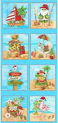 Holiday Beach Quilt Panel * Sunshine For Christmas * New * Free Post *