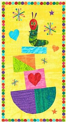 The Very Hungry Caterpillar Quilt Panel * New * Free Post * Colourful Shapes *