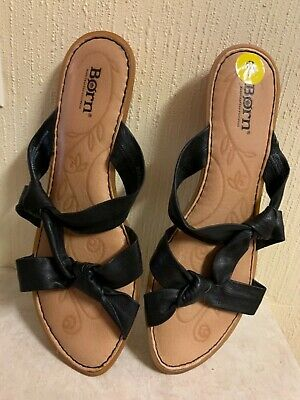 ‼️ $65.00 New BORN leather summer slippers flats shoes women size 9M VERY SOFT‼️