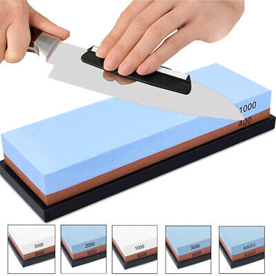 Knife sharpener Stone double sided Wet sharpening Waterstone grit anti Whetstone