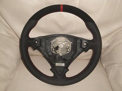 Bespoke Porsche Cayenne 955 & 957 Black Leather & Alcantara Steering Wheel