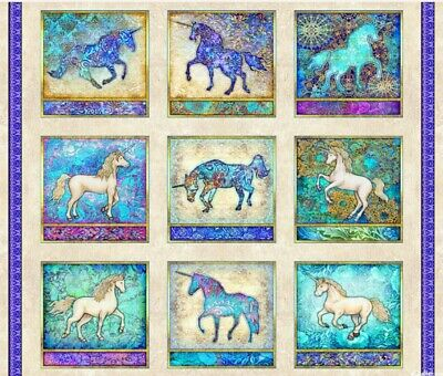Mystical Prancers Quilt Panel * New * Free Post * Gorgeous * Digital Print *