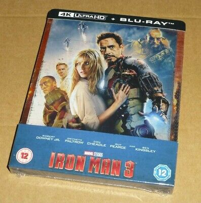 Iron Man 3 : 4K UHD + 2D Blu-ray, UK Exclusive STEELBOOK, Marvel, *In Hand Now