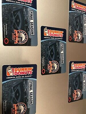 No value Dunkin' Donuts Gift Card. Lot of 5 Mets unused
