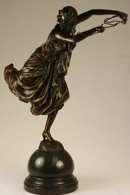 Hand Made Museum Quality Work Sexy Woman W/ Rope 100% Solid Bronze Sculpture Art