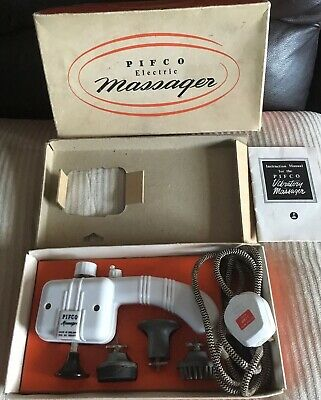 PIFCO VIBRATORY MASSAGER VINTAGE 1960'S WORKING Box Strong Motor Instructions