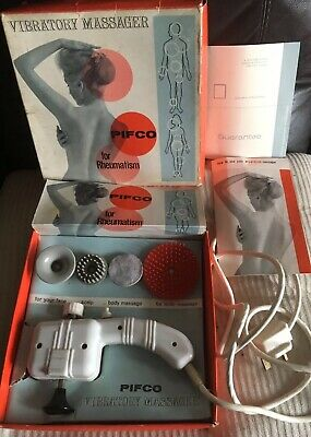 PIFCO VIBRATORY MASSAGER VINTAGE 1960'S WORKING Boxed Instructions Etc.