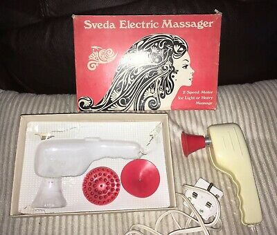 Reduced Sveda VIBRATORY MASSAGER VINTAGE FULLY WORKING Boxed 3 Attachments.