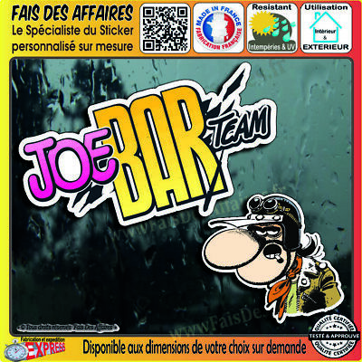 2 Stickers Autocollant adhésif Joe BAR Team decal harley motorcycles custom café