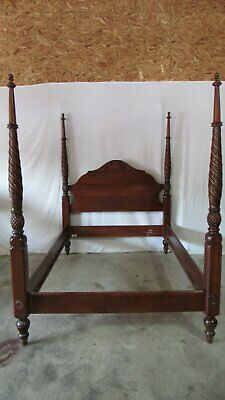Ethan Allen King Bed British Classics Plantation Poster  Bed