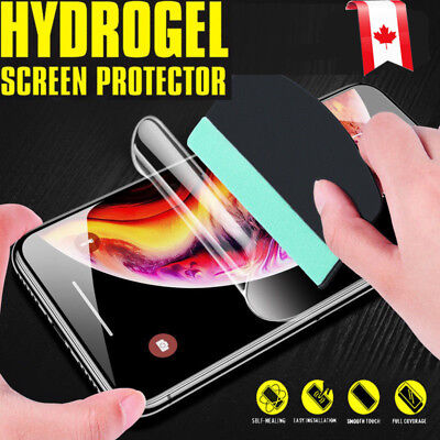 Hydrogel Clear Full Coverage Screen Protector Apple iPhone XR X XS Max 7 8 Plus