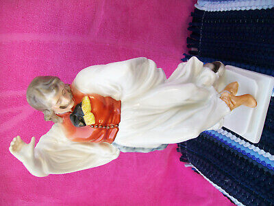 Vintage-Herend==Dancing Peasant Man==Porcelain Figurine-From -1960=11.5-Inc.tall