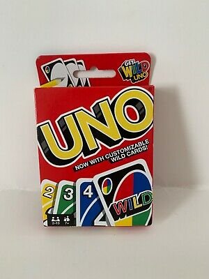 Uno Card Game with Customizable Wild Cards