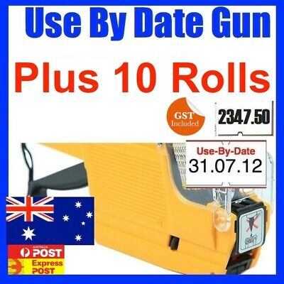 Use By Date Price Pricing Gun Labeller +10 Rolls Label